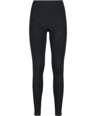 Odlo Bayanlar evrim siyah grafit gri baselayer pantolon