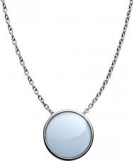 Skagen SKJ0790040 Bayanlar deniz cam gümüş çelik cilalı kolye