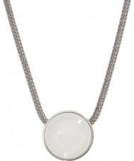 Skagen SKJ0080040 Bayanlar deniz cam gümüş çelik kolye