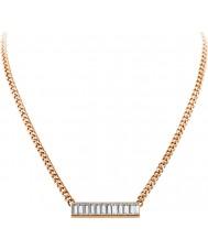 Dyrberg Kern 339134 rose gold trunca Bayanlar swarovski elemanları ile kaplama kolye