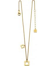 Orla Kiely N4040 Bayanlar gümüş altın, dört sivri çiçek kaplama kolye
