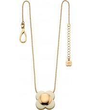 Orla Kiely N4022 Bayanlar papatya zinciri 18 ayar altın krem çiçek kolye