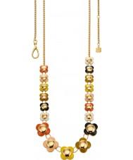 Orla Kiely N4021 Bayanlar papatya zinciri 18 ayar altın çok renkli uzun çiçek kolye