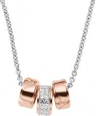 Emporio Armani EG3045040 Bayanlar imza gümüş rolo zinciri ile altın kolye