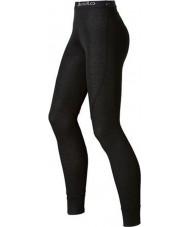 Odlo 150541-15000-M Bayanlar siyah uzun john baselayers pantolon eğilim - boyut m (14)