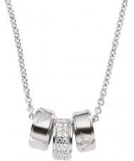 Emporio Armani EG3046040 gümüş rolo zinciri ile bayanlar imza gümüş kolye