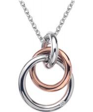 Hot Diamonds DP373 Bayanlar sonsuzluk gümüş ve altın yaldızlı gümüş kolye gül