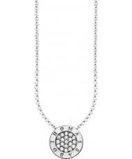 Thomas Sabo KE1493-051-14-L45v Bayanlar gümüş imza klasik zirkon hazırlayın kolye